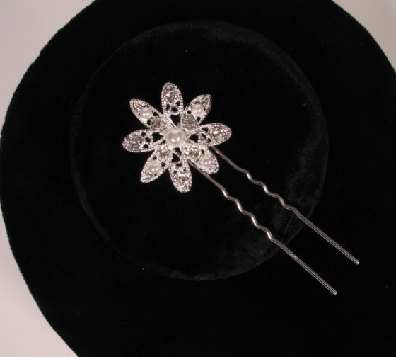 Your Dream Dress SHP327 Silver Hair Pin Bridal Headpiece