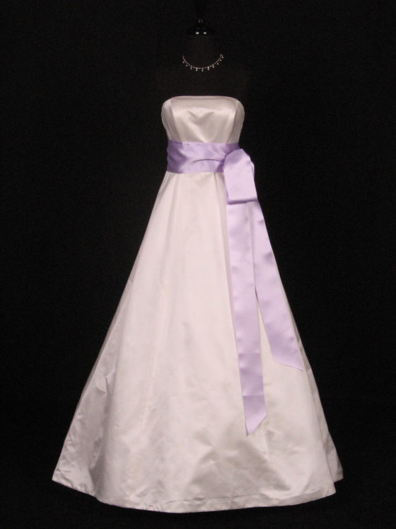 Orchid Double Faced Satin Ribbon Sash