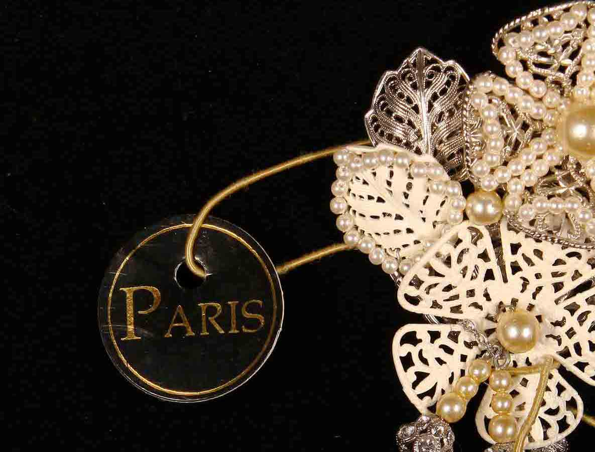 Paris Silver Bells Brooch Pin Bridal Jewelry Discounted On